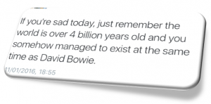 David Bowie FB post