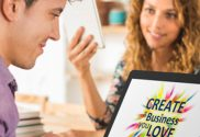 Createa a business you love on a laptop