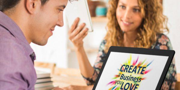 Createa a business you love on a laptop