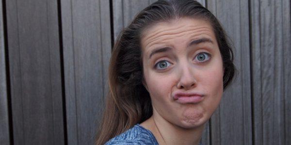 Bored face girl