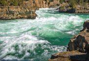 river running rough over rocks